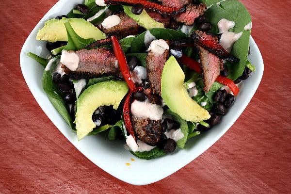 Blackened Steak Salad Recipe Girl