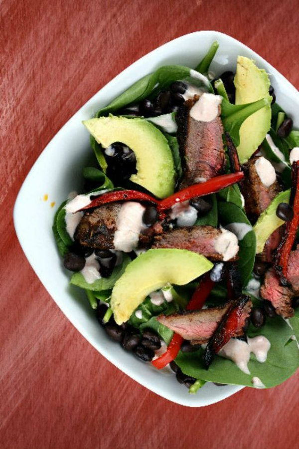 Blackened Steak Salad recipe - by RecipeGirl.com