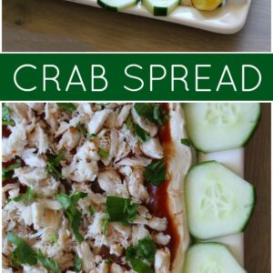 Pinterest collage image for Crab Spread