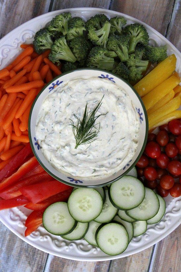 Curry Dill Dip recipe from RecipeGirl.com