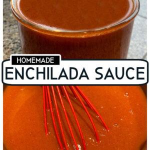 pinterest collage image for homemade enchilada sauce