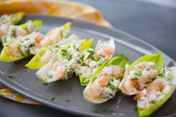 Endive with Shrimp Salad : recipe from RecipeGirl.com