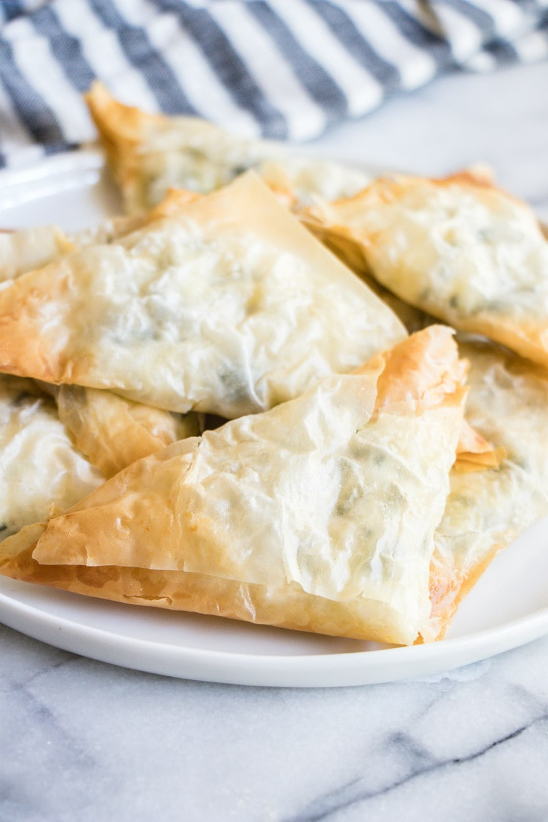Greek Spinach Triangles