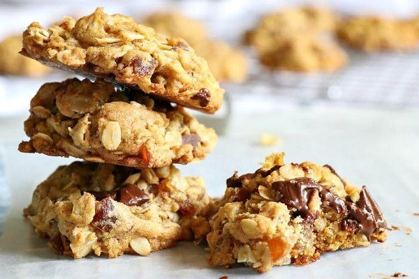 Healthier Chocolate Chip Oatmeal Cookies recipe from RecipeGirl.com