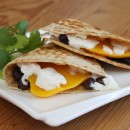 Mango, Black Bean and Goat Cheese Quesadilla