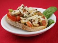 Mushroom and Parmigiano Bruschetta