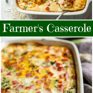 Pinterest Collage Image for Farmer's Casserole