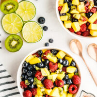 fruit salsa in two bowls