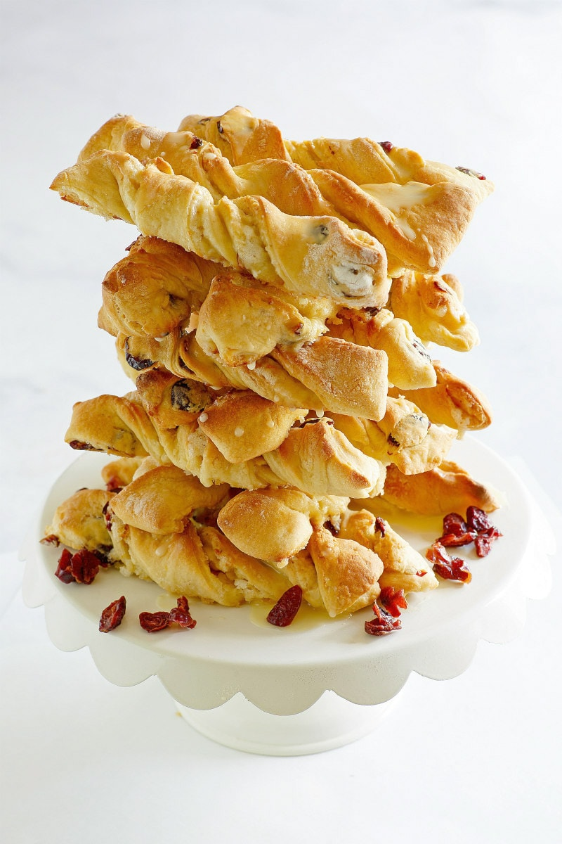 Stack of Orange Cranberry Twists