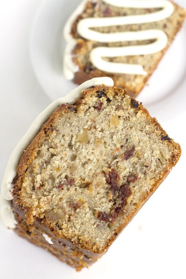 Spiced Pear Cherry Bread recipe - from RecipeGirl.com