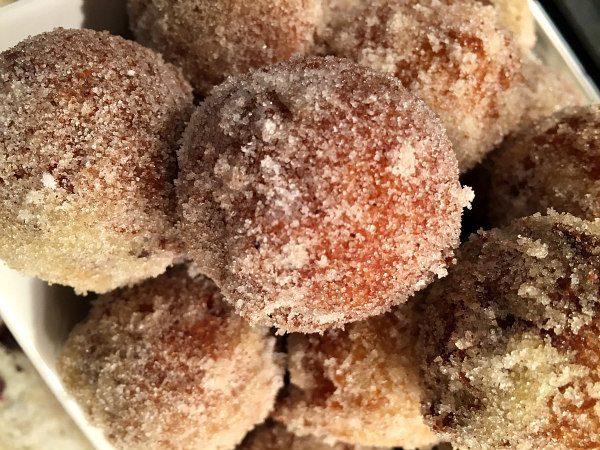Pumpkin Doughnut Drops - recipe from RecipeGirl.com