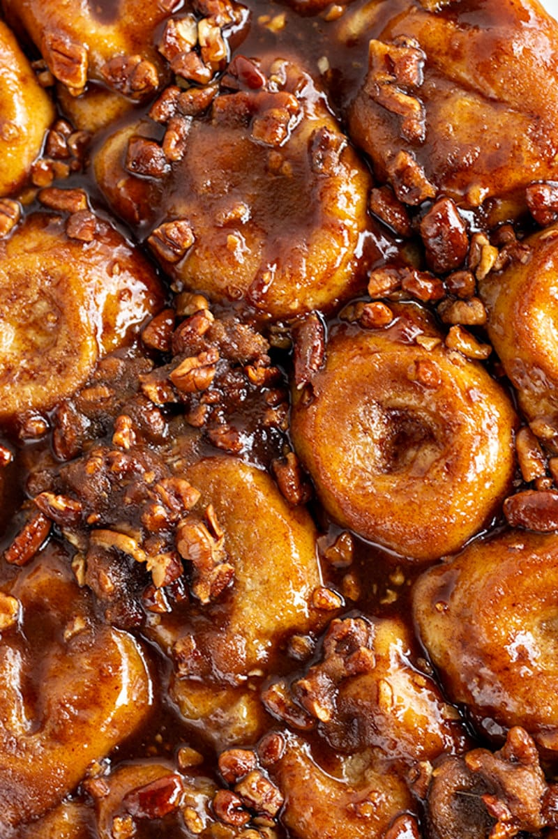 Up close Sticky Buns