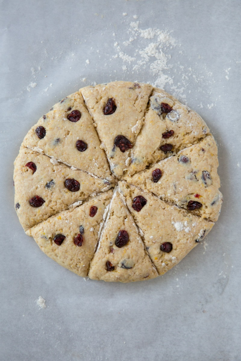 making whole wheat cranberry scones