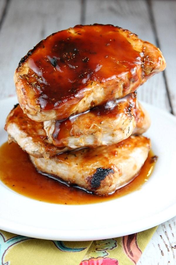 Barbecued Pork Chops - RecipeGirl.com