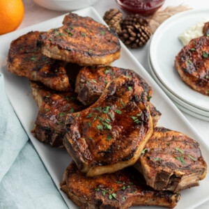 grilled pork chops with maple cranberry glaze