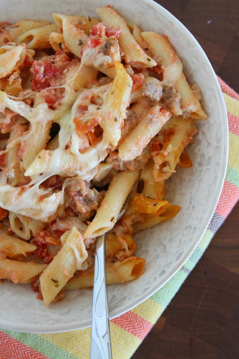 Serving of Pasta Rustica