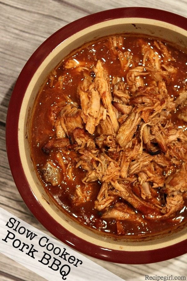 likes to eat this easy-to-make Slow Cooker Pork Barbecue over cooked ...