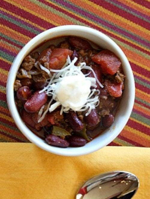 Texas Chili recipe - from RecipeGirl.com