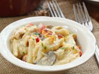 Three Cheese Chicken Penne Florentine Recipe