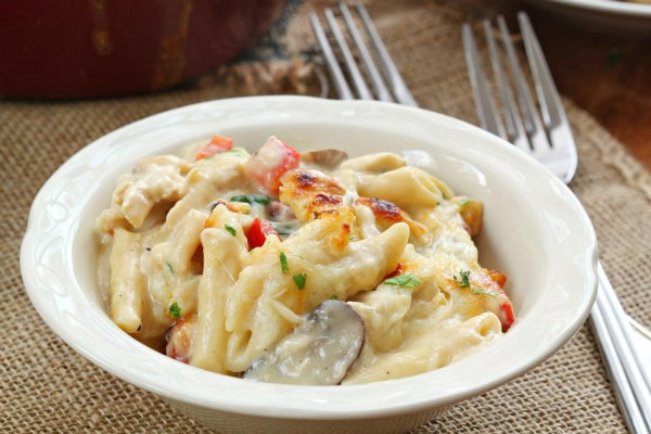 Three Cheese Chicken Penne Florentine Recipe Girl