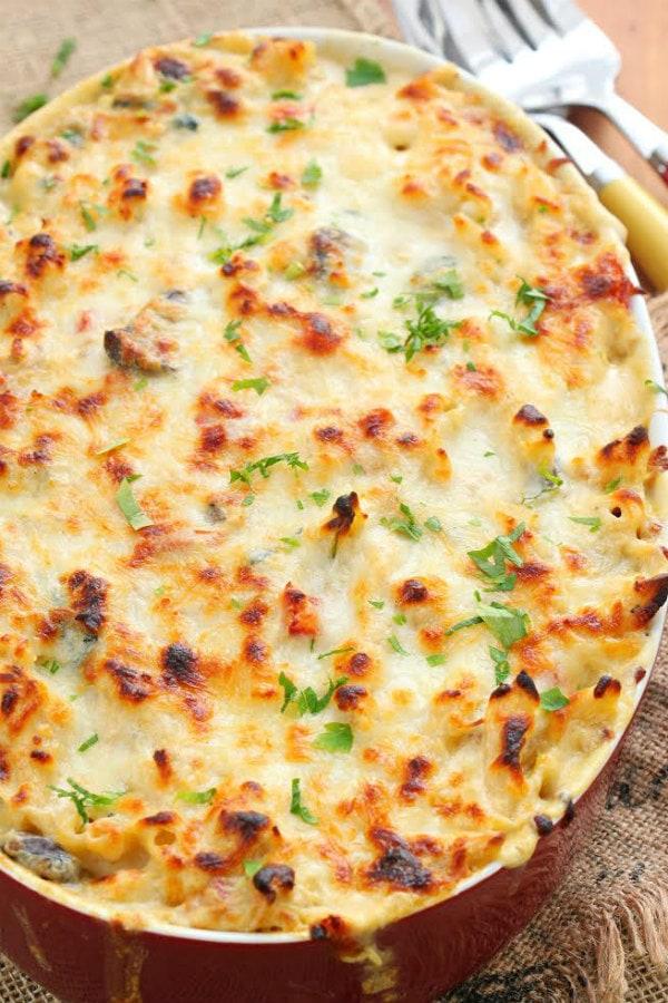Three Cheese Chicken Penne Florentine