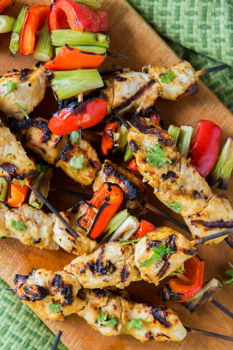 Thai Pumpkin Chicken Satay
