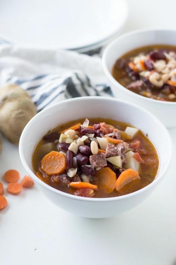 Bean and Chorizo Soup Recipe