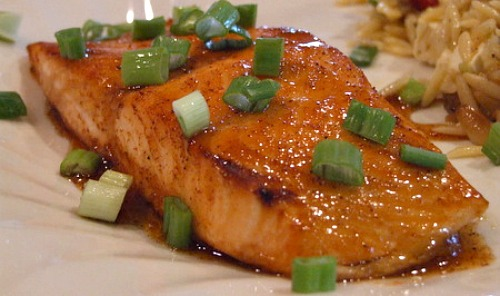 Broiled Honey Lime Glazed Salmon