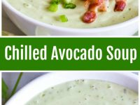 pinterest collage image for chilled avocado soup