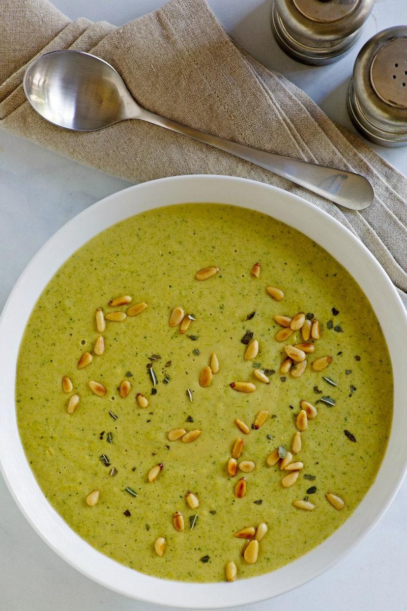 Bowl of Creamy Broccoli Soup
