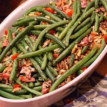 Garlic Green Beans with Prosciutto