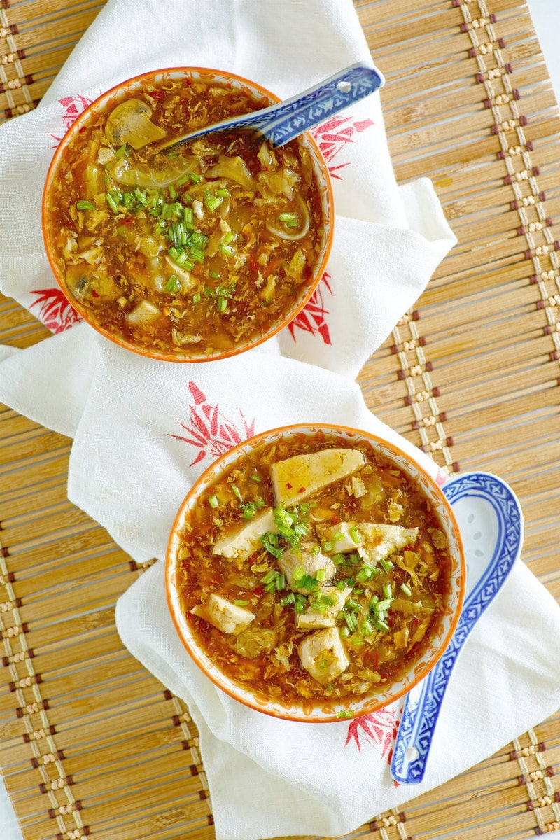 Bowls of Hot and Sour Soup