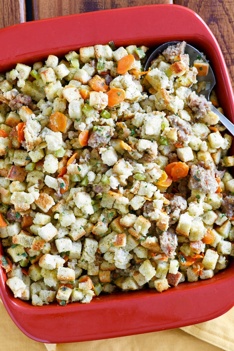 Low Fat Sausage Stuffing