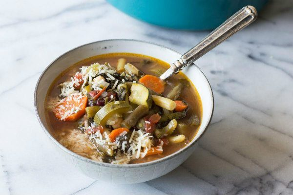 Easy Minestrone Soup recipe - from RecipeGirl.com