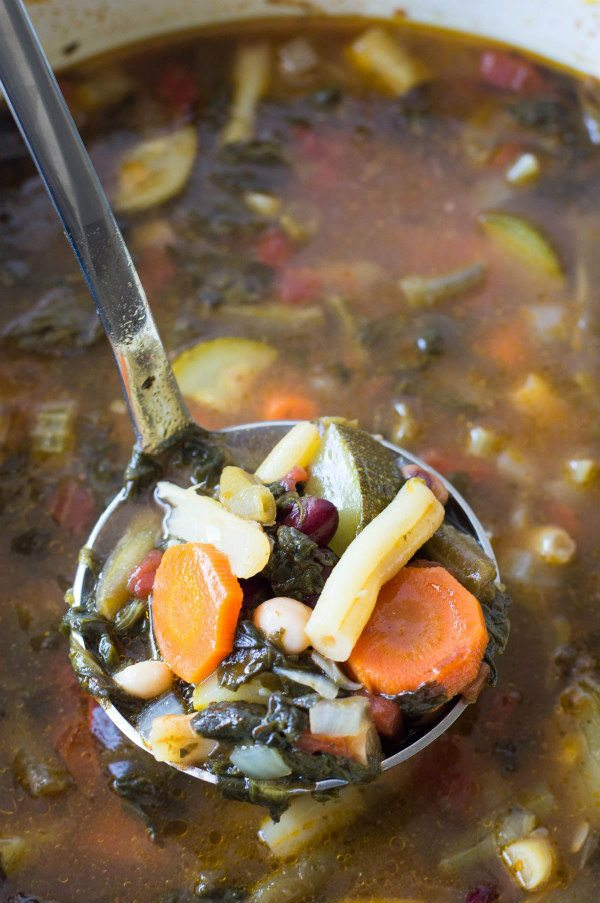 Easy Minestrone Soup recipe - from RecipeGirl.com