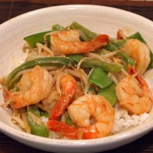 Stir Fry Shrimp w Coconut Curry Sauce