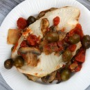 Tilapia with Olive Mushroom and Tomato Sauce
