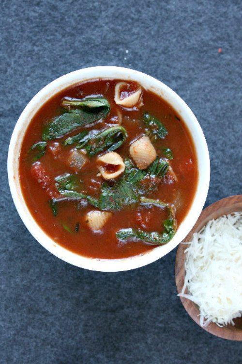 Tomato Florentine Soup recipe - from RecipeGirl.com