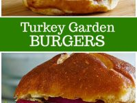 pinterest collage image for turkey garden burgers