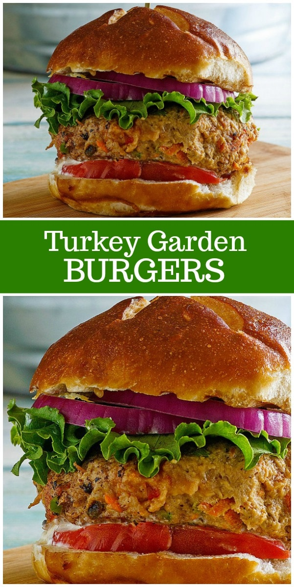 Turkey Garden Burgers recipe from RecipeGirl.com #turkey #burgers #recipe #RecipeGirl