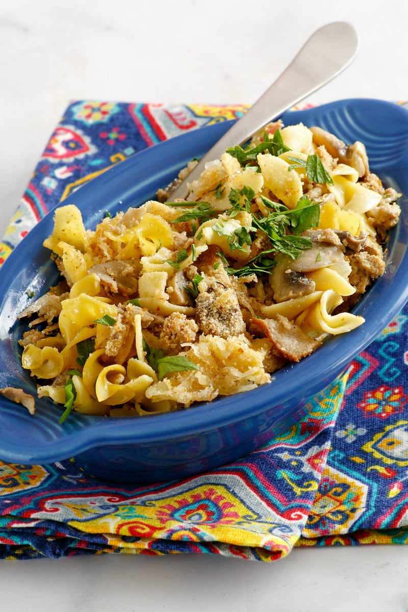 serving of Turkey Noodle Casserole