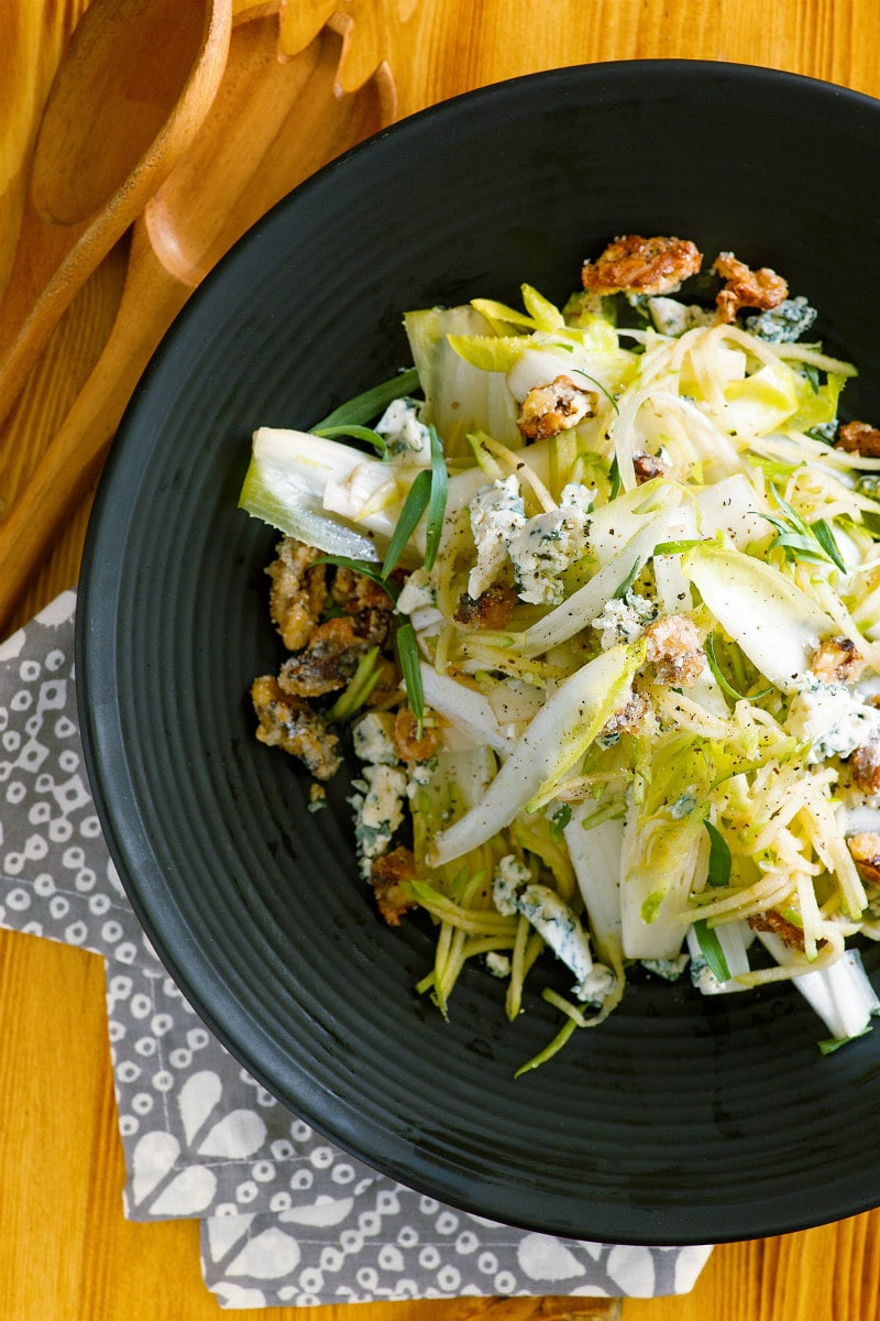 Apple Endive Salad with Sugared Walnuts