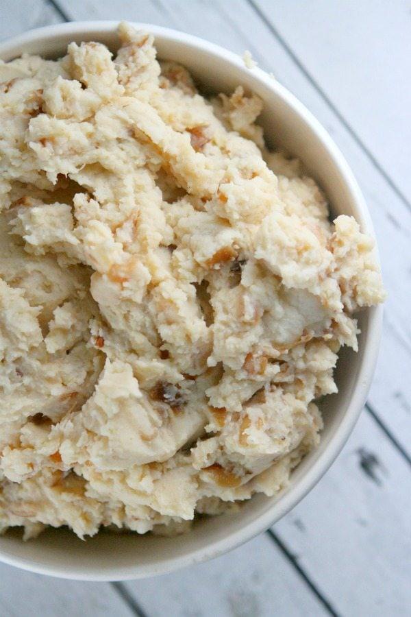 Caramelized Onion and Horseradish Mashed Potatoes