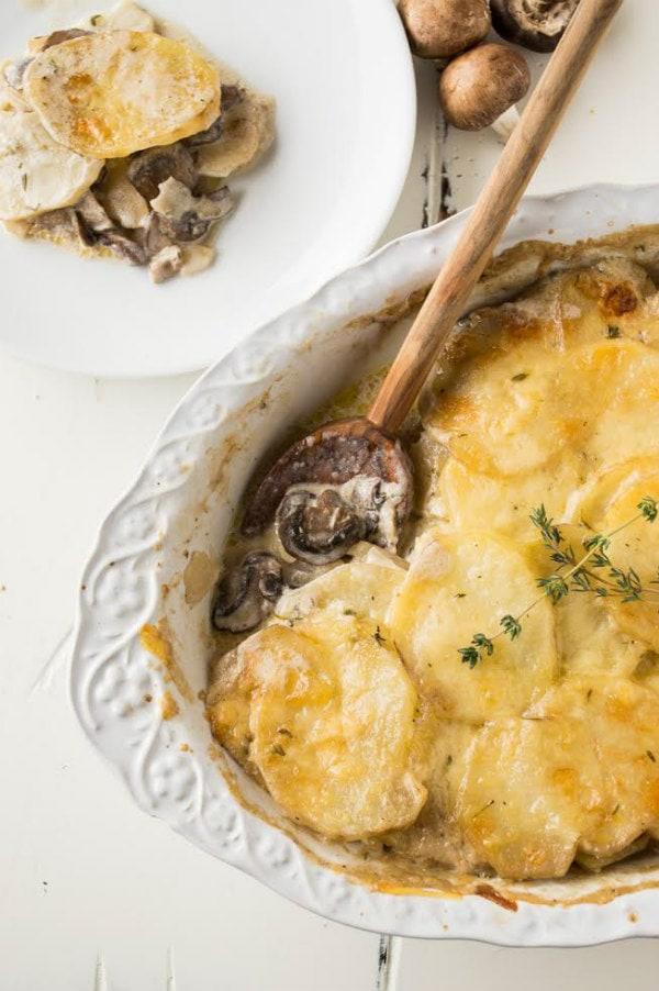 Mushroom and Potato Gratin