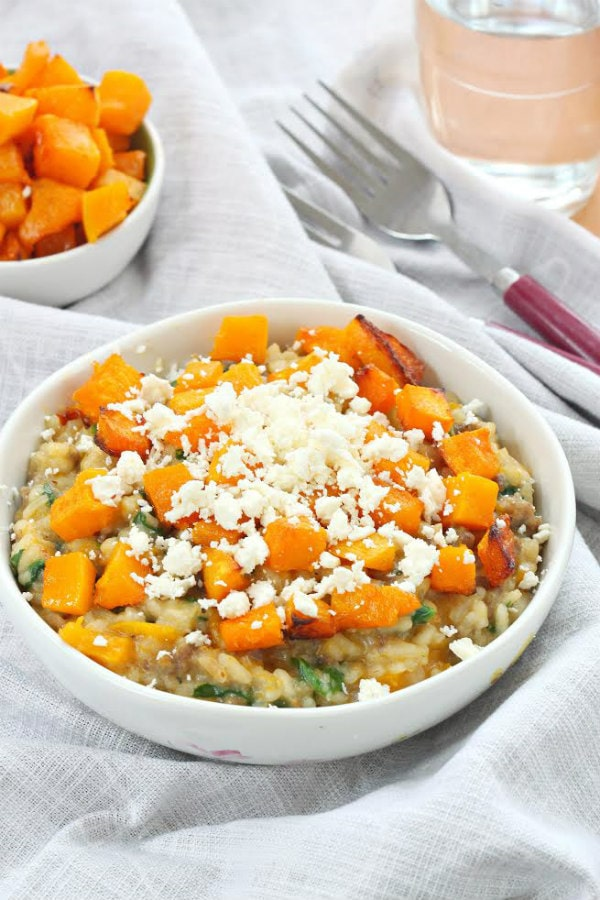 Roasted Pumpkin Sausage Risotto Recipe