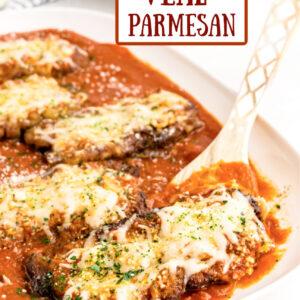 pinterest image for veal parmesan