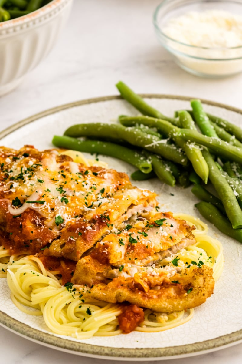 veal parmesan on a plate