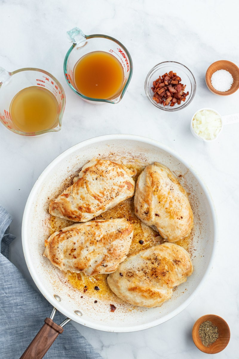cooked chicken on white pan