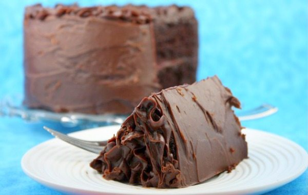 Double Chocolate Cake sliced