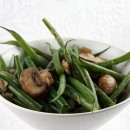Green Beans with Mushrooms and Shallots